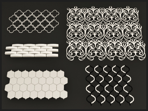 Interior Wall and Floor Tile Set - 3DOcean Item for Sale