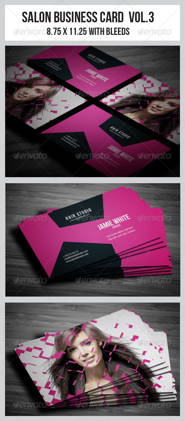 Salon Business Card Vol.3 - Industry Specific Business Cards