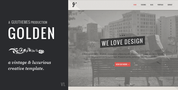 GOLDEN - Responsive Vintage HTML5/CSS Template