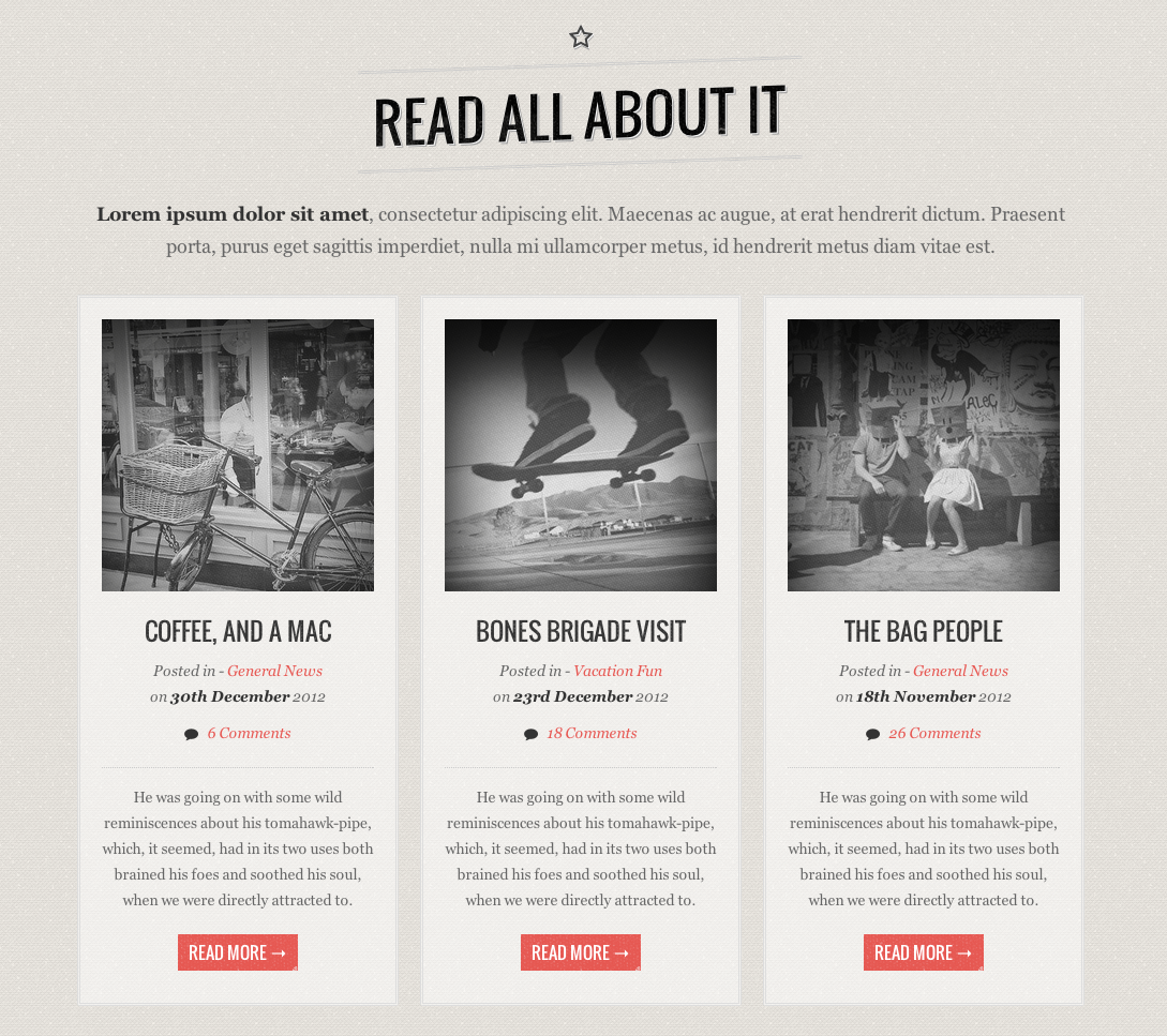 GOLDEN - Responsive Vintage HTML5/CSS Template by guuthemes ...