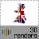 Great Britain Flag Map 3D - GraphicRiver Item for Sale