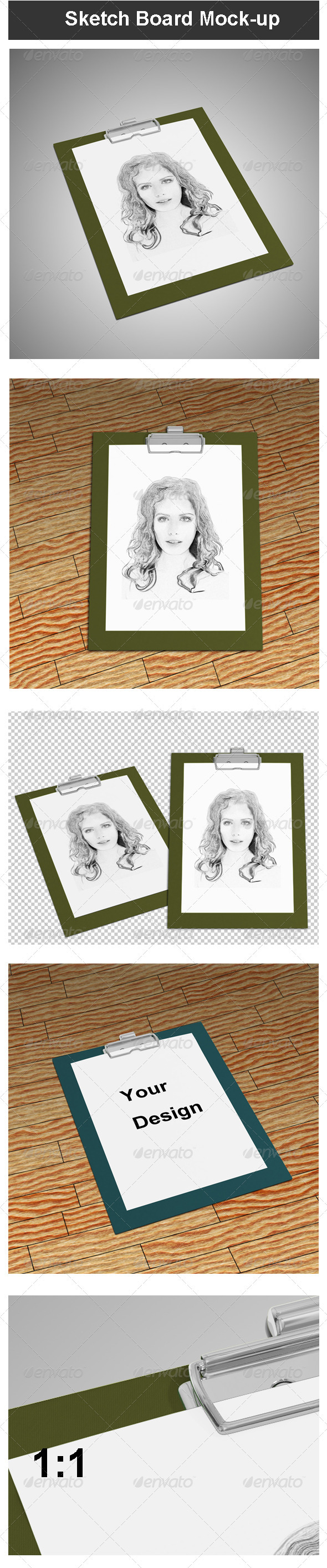 Sketch Board Mock-up - Miscellaneous Print