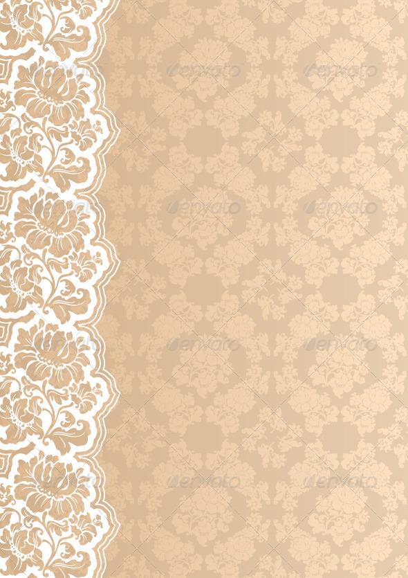 Flower Background with Lace - Backgrounds Decorative