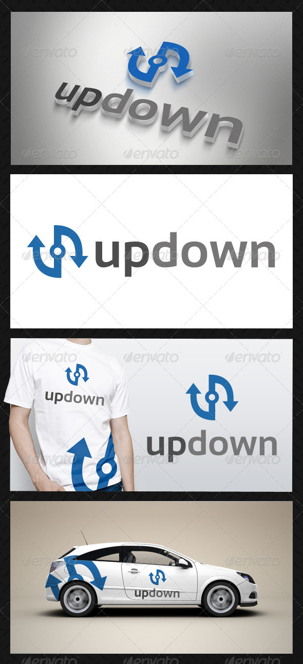 Up Down Logo Template - Vector Abstract