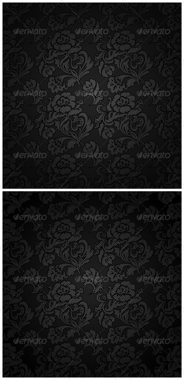 Corduroy Background, Ornamental Flowers Fabric - Backgrounds Decorative