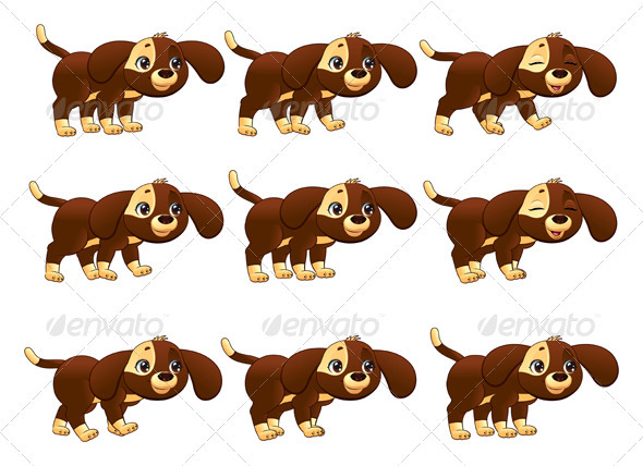 Dog Walking Animation - Animals Characters