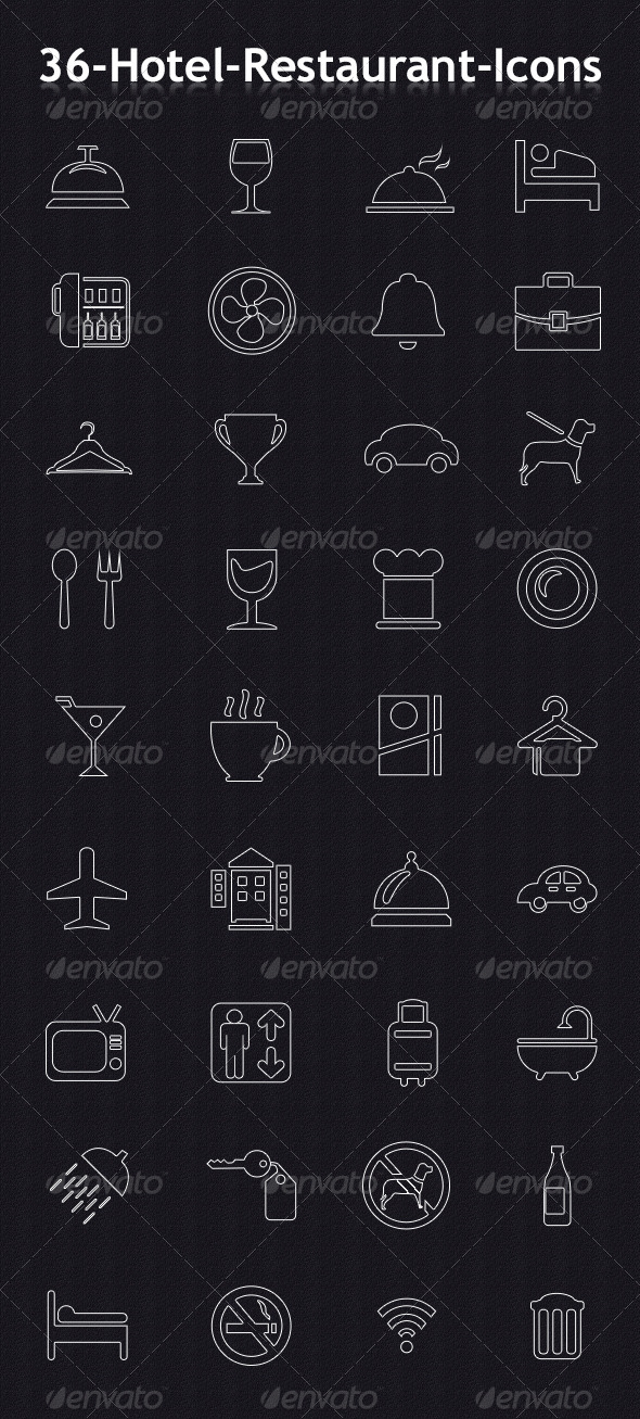 Hotel & Resturant Icons