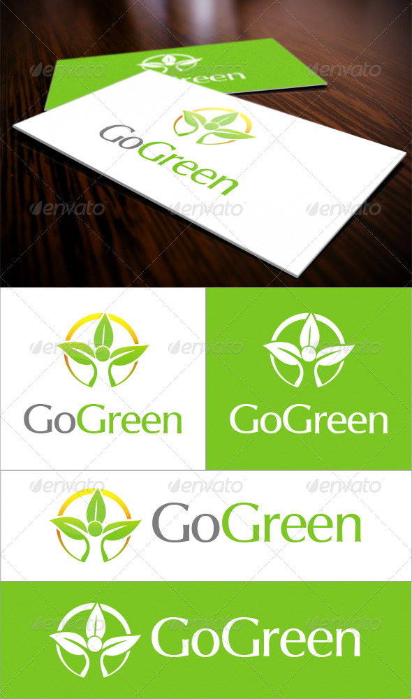 Go Green Logo - Nature Logo Templates