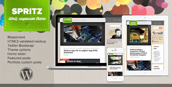 Spritz HTML5 Responsive Theme - Blog / Magazine WordPress