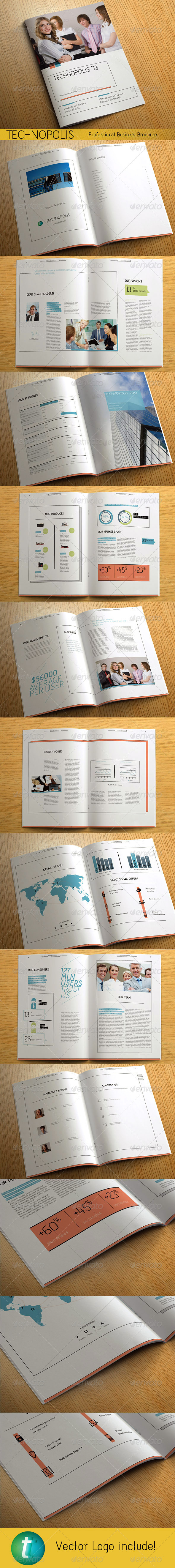 TECHNOPOLIS - Modern Business Brochure - Corporate Brochures