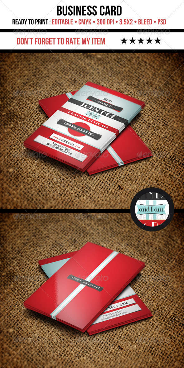 Retro Graphic Designer Business Card - Retro/Vintage Business Cards
