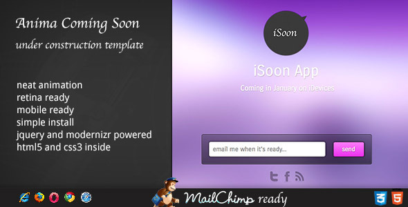 Anima – Coming Soon Template