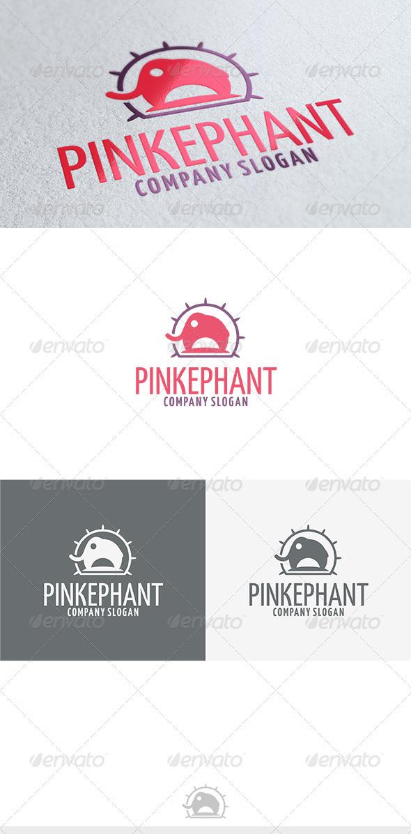 Pinkephant Logo - Animals Logo Templates