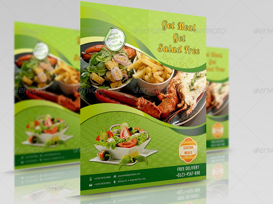 Seafood Restaurant Flyer Template By Owpictures Graphicriver