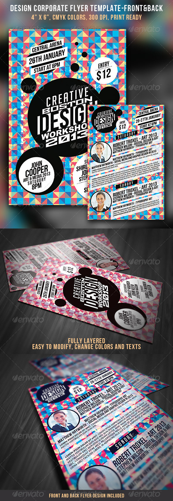 Design Corporate Flyer - Front & Back - Commerce Flyers