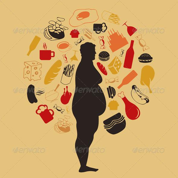 Fat Man - Food Objects