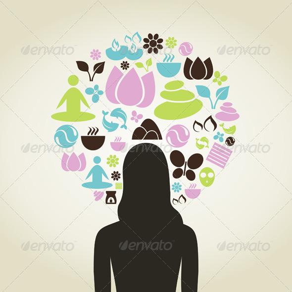 Girl Spa Concept - Health/Medicine Conceptual
