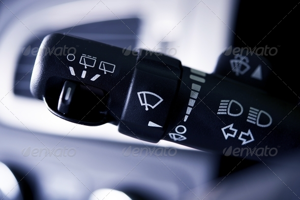 Car Wipers Control - Stock Photo - Images