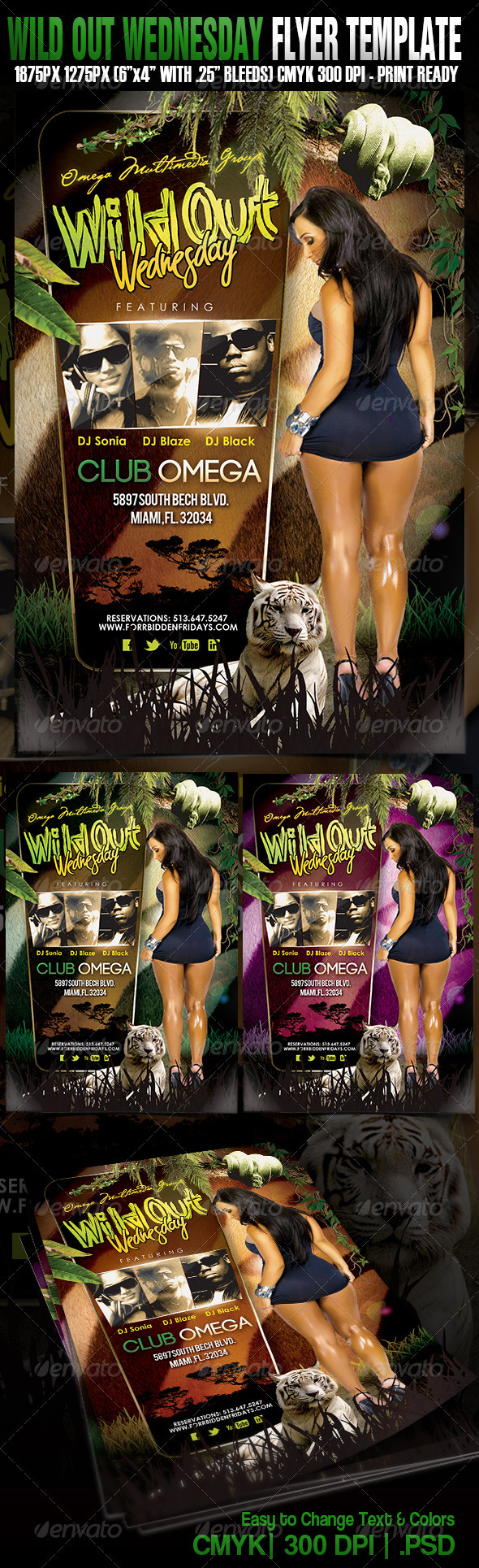 Wildout Wednesdays - Events Flyers