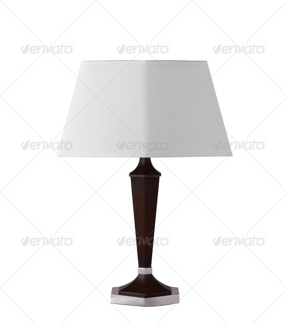 floor lamp isolated on a white background - Stock Photo - Images