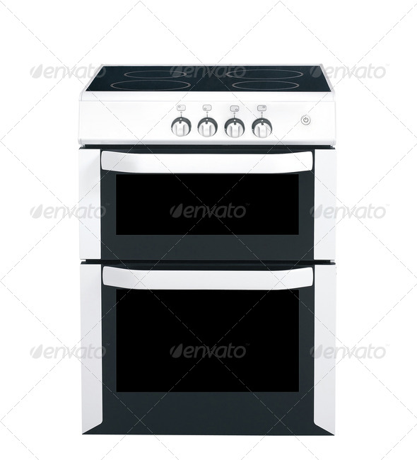 cooker over the white background - Stock Photo - Images