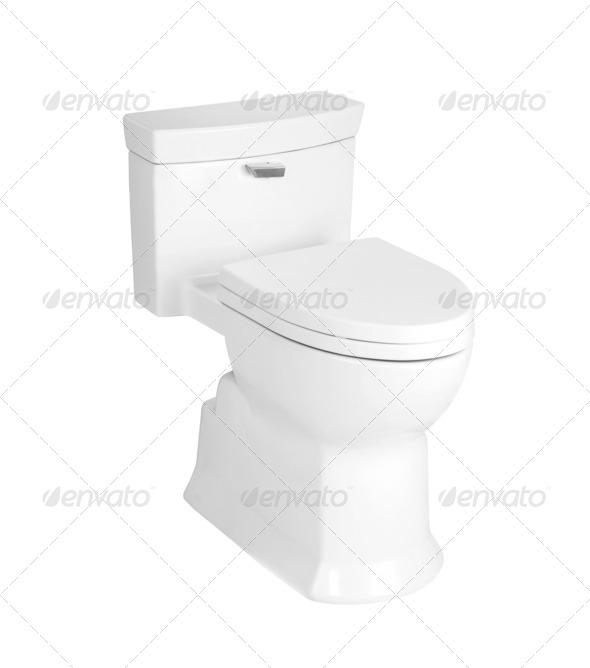 sanitary toilet bowl - Stock Photo - Images