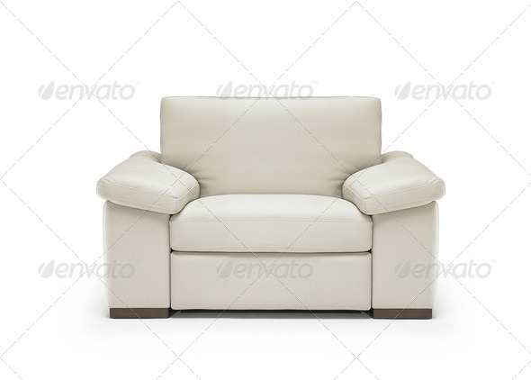Image of a modern leather armchair isolated - Stock Photo - Images