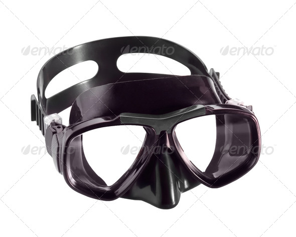 diving mask isolated on white background - Stock Photo - Images
