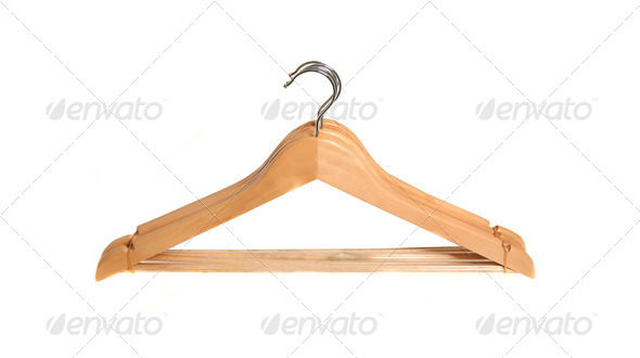 hangers isolated - Stock Photo - Images