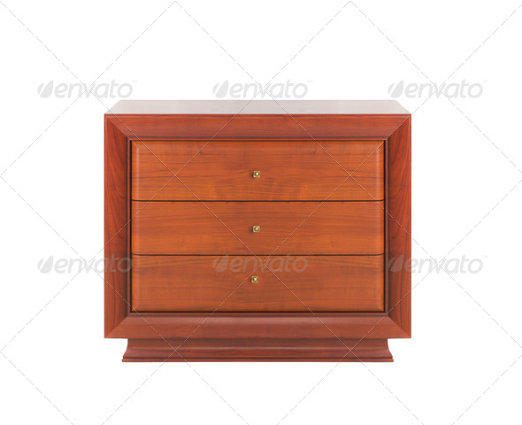 Wooden dresser isolated - Stock Photo - Images