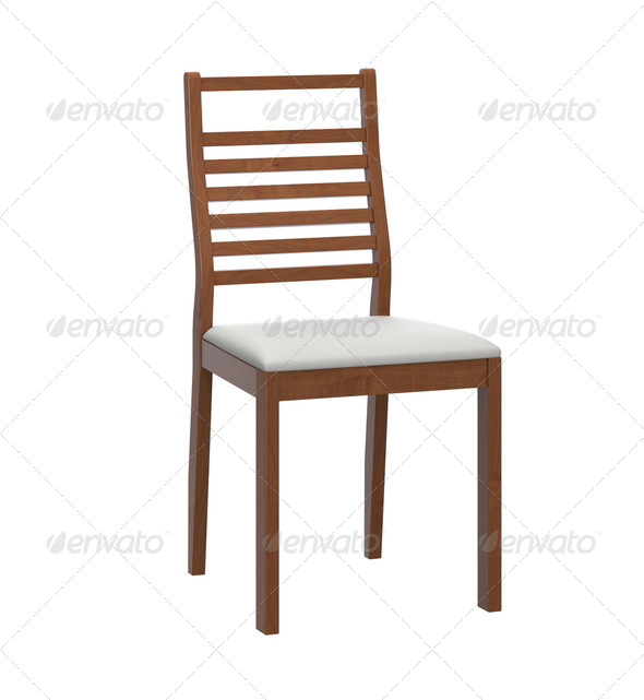 modern wooden chair - Stock Photo - Images