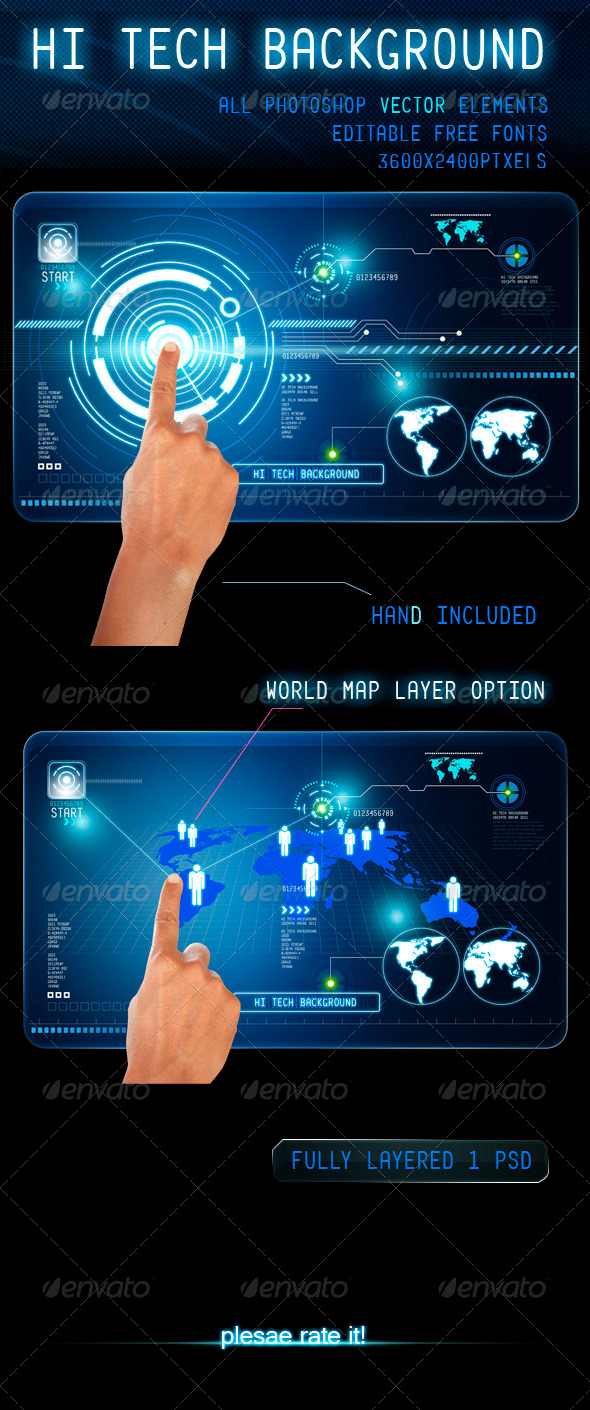 Hi Tech Background - Backgrounds Graphics