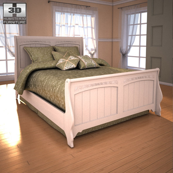 Ashley Cottage Retreat Sleigh Bedroom Set by humster3d | 3DOcean