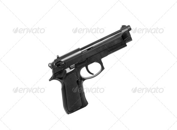 Gun isolated - Stock Photo - Images