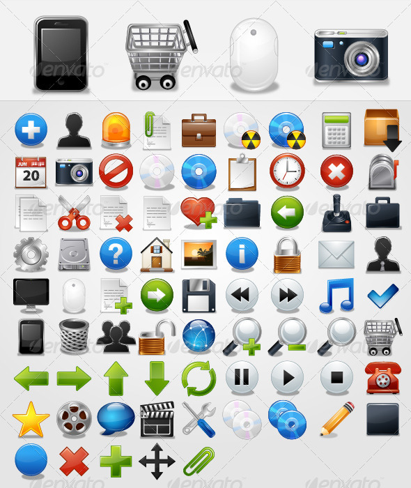 General 77 Icons -  Vector - Web Icons