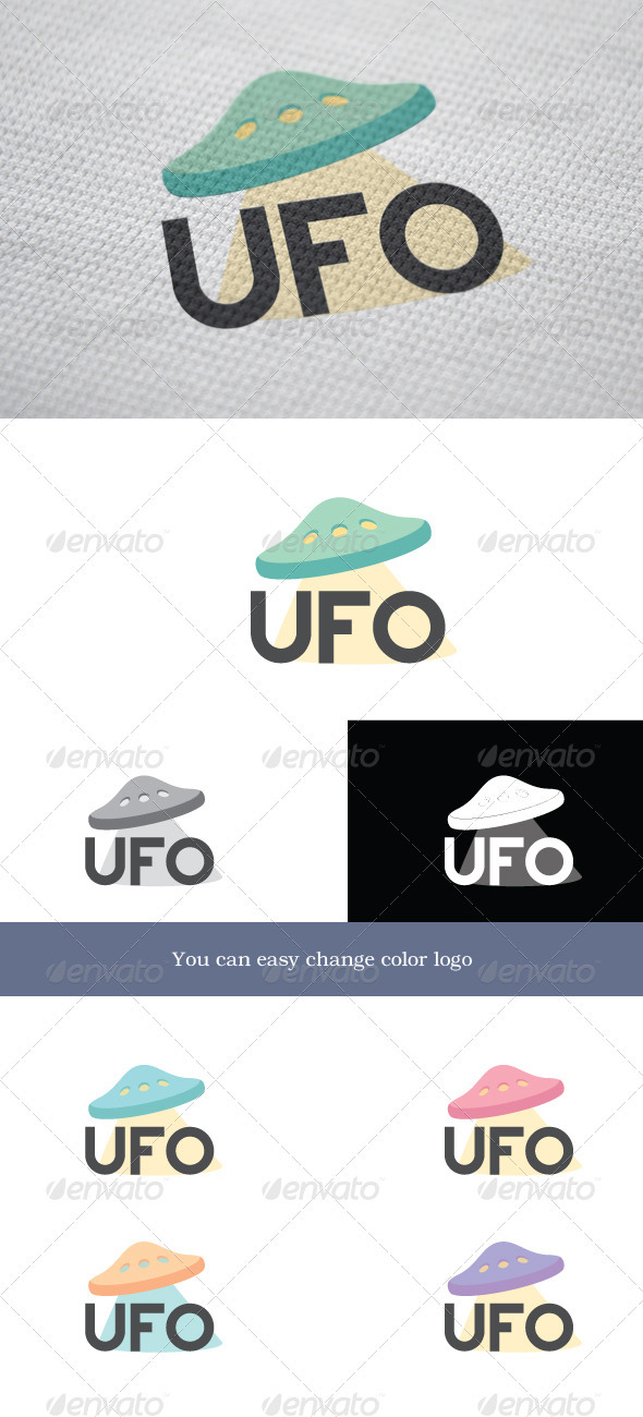 UFO Logo - Objects Logo Templates