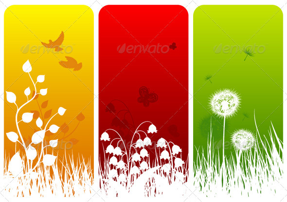 Three Nature Designs - Backgrounds Decorative