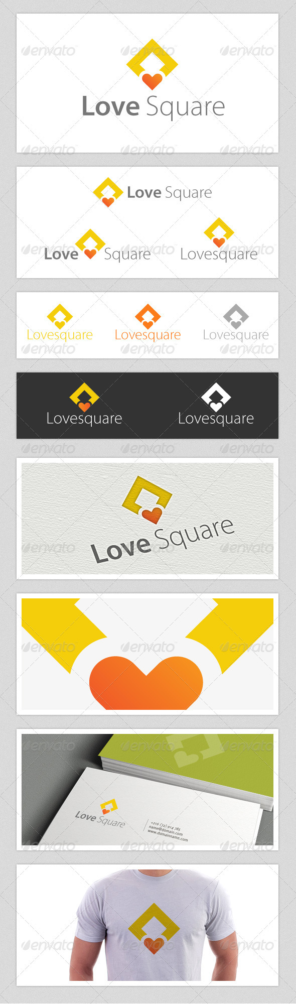 Love Square Logo - Symbols Logo Templates