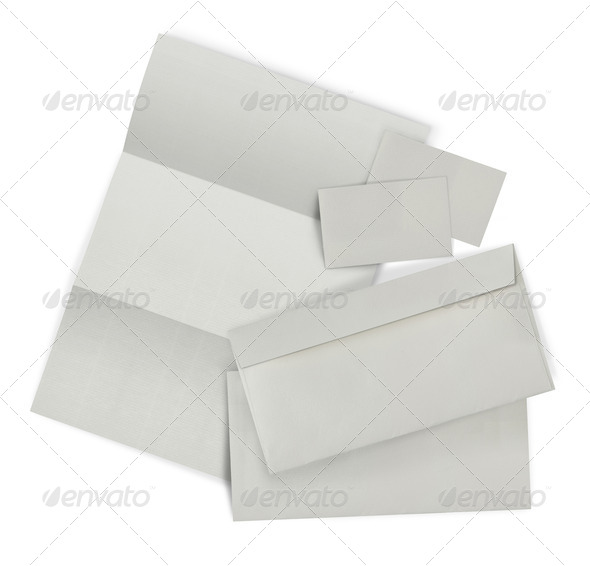 set of corporate identity. each one shot separately - Stock Photo - Images
