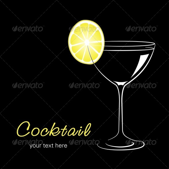 Cocktail With Lemon - Food Objects
