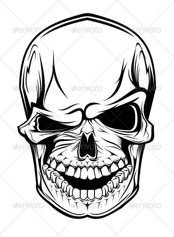 Danger Skull - Halloween Seasons/Holidays