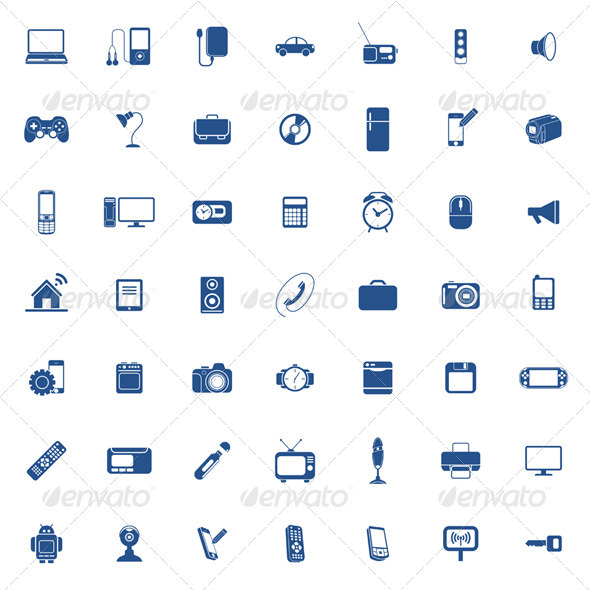 Technology Icon Set - Web Elements Vectors