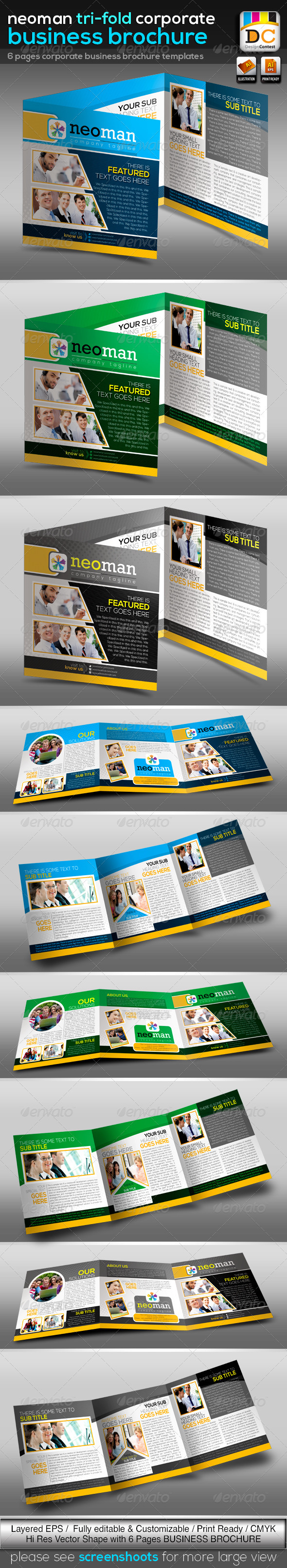 NeoMan Tri-fold Corporate Business Brochure V-02  - Corporate Brochures