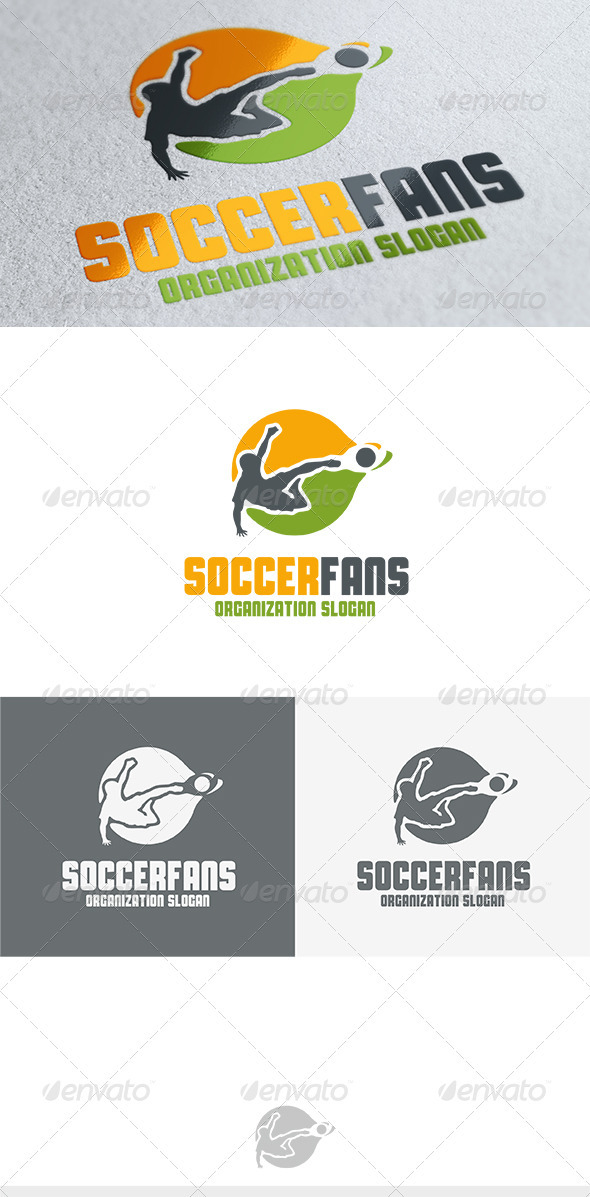 Soccer Fans Logo - Humans Logo Templates