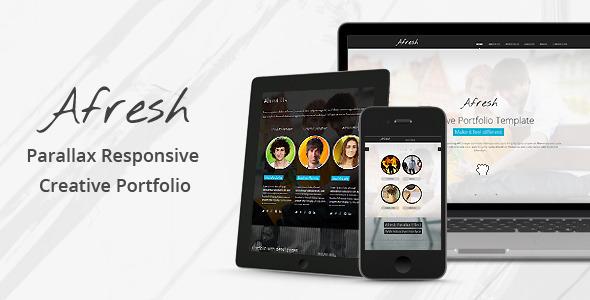 Afresh – Parallax Responsive Creative Portfolio