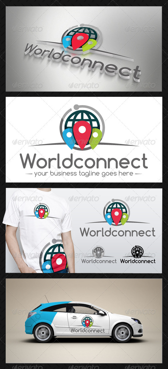 World Connect Logo Template - Objects Logo Templates