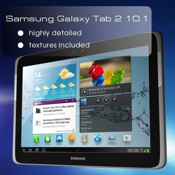 Samsung Galaxy Tab 2 10.1 (P5100) - 3DOcean Item for Sale