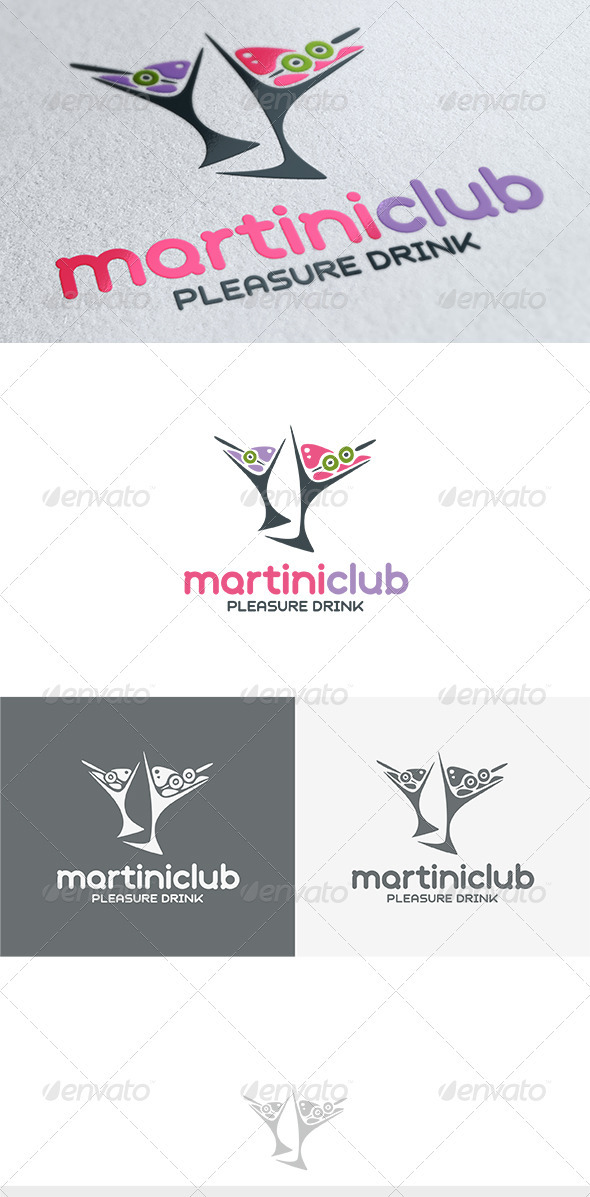Martini Club Logo - Food Logo Templates