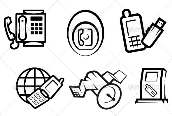 Communication and Internet Symbols - Communications Technology