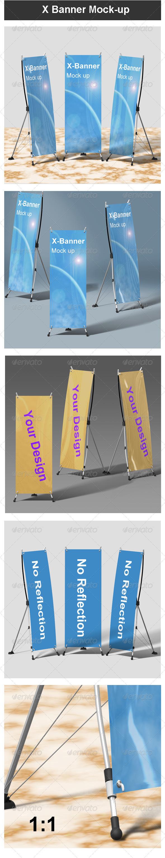 X Banner Mock-up - Signage Print